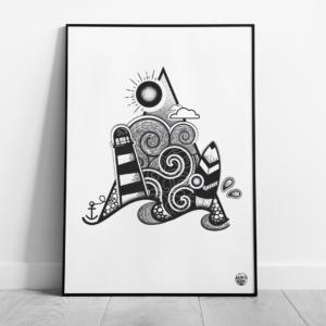 illustration aaska dessin marin auray morbihan