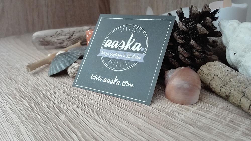 logo carte de visite aaska graphisme auray morbihan