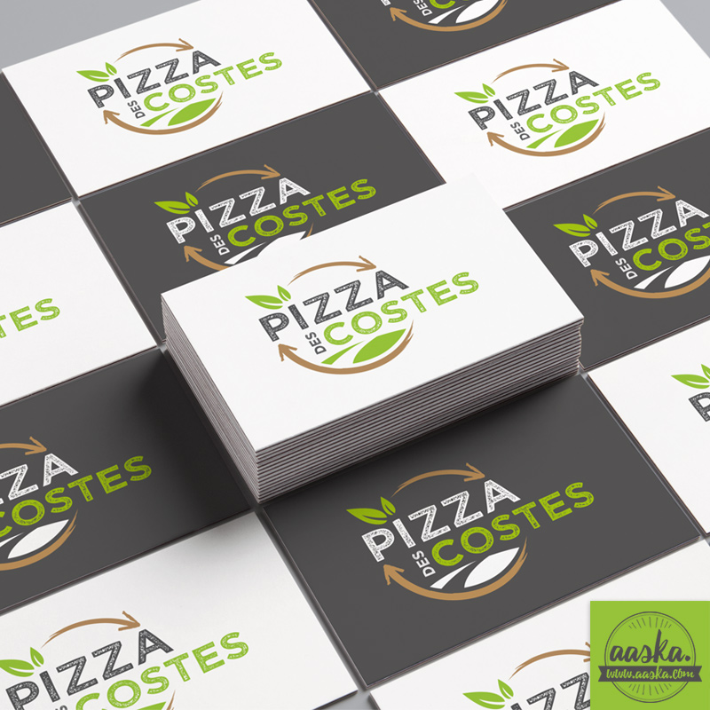aaska graphisme carte de visite pizza des costes