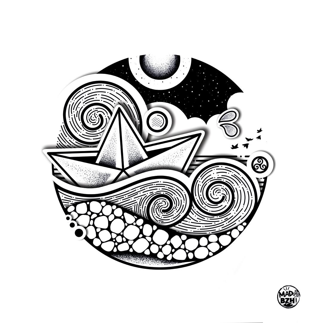 aaska illustration affiche dessin marin bretagne MADBZH