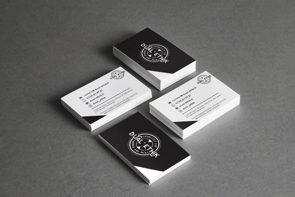 AASKA Dual'Ethik GRAPHISME LOGO MORBIHAN carte de visite