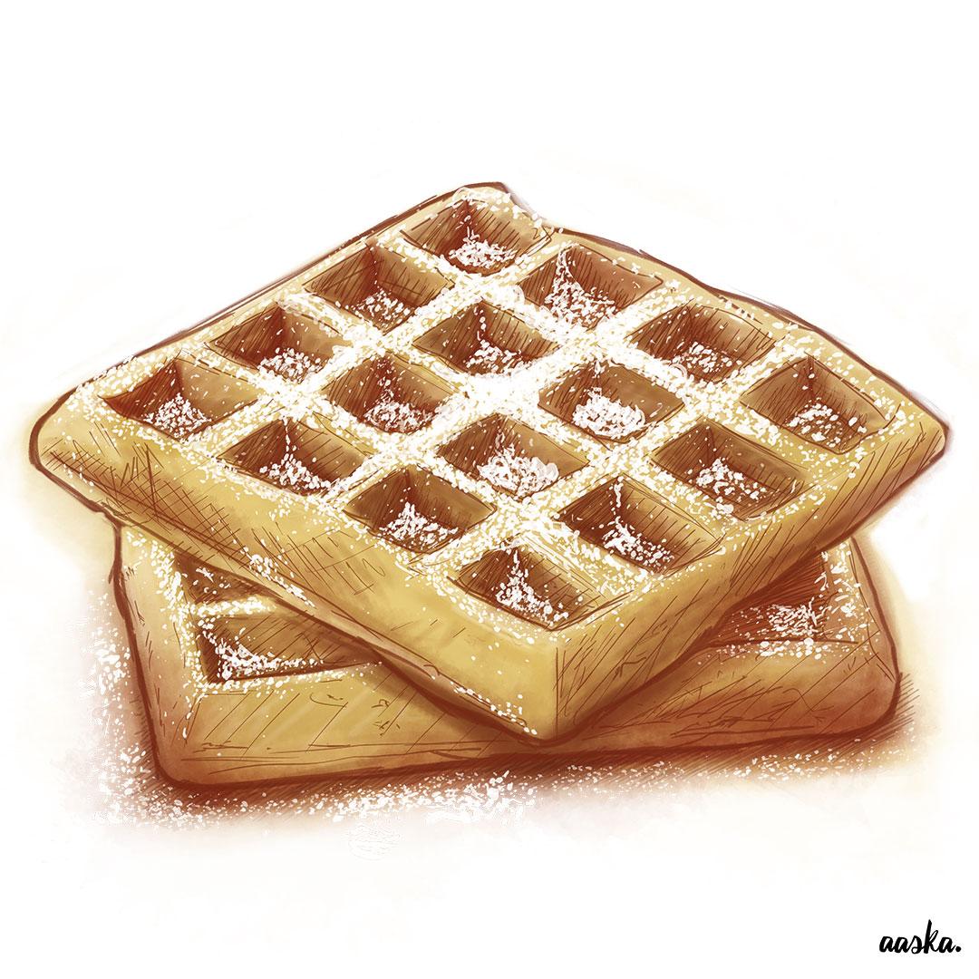 aaska illustration gaufre