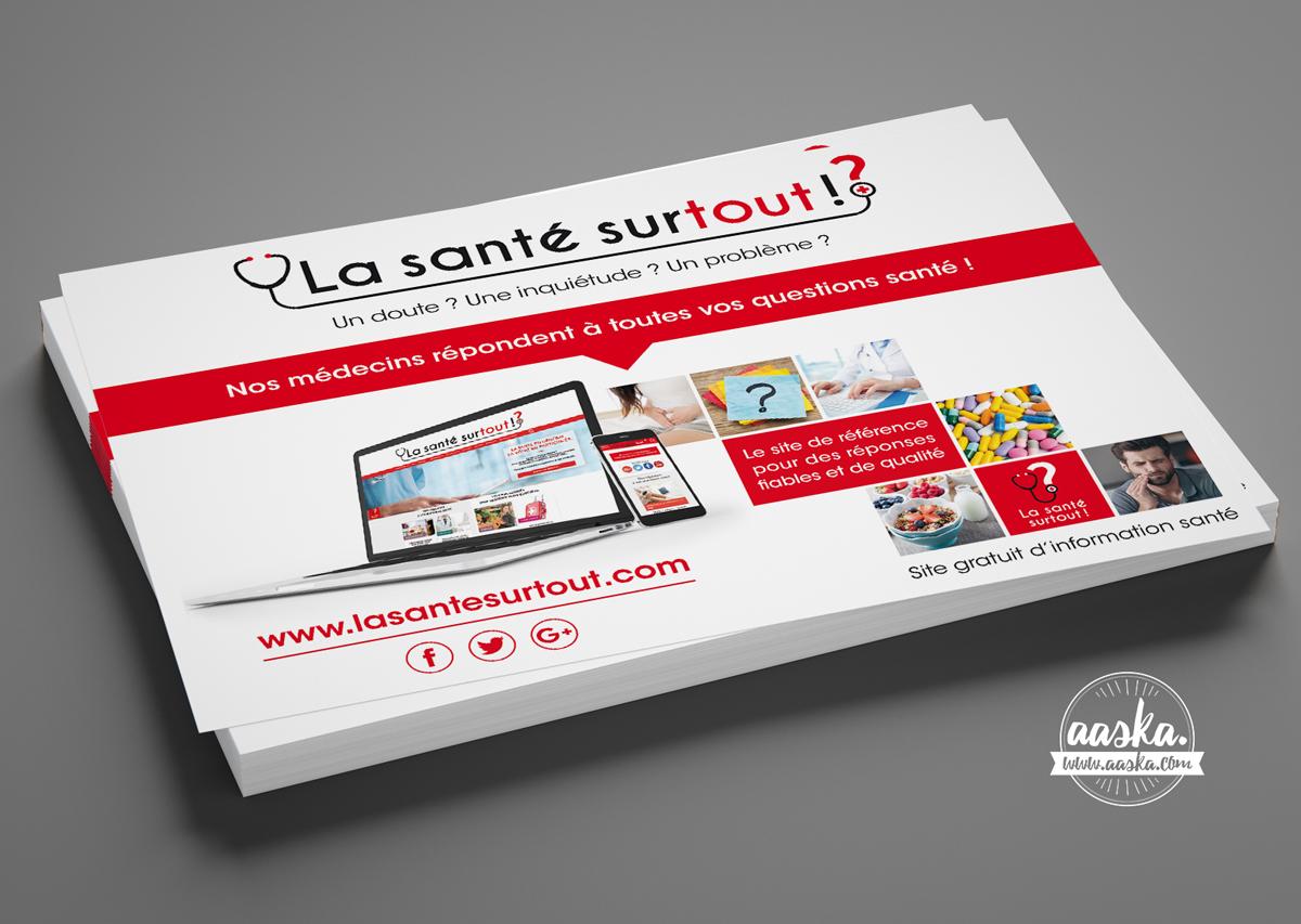 Supports de communication – «La Santé Surtout !»