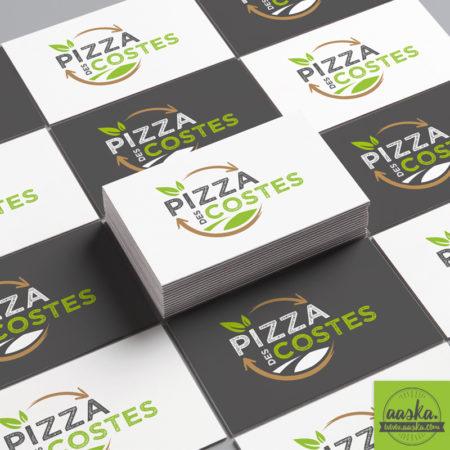 aaska graphisme carte de visite pizza des costes
